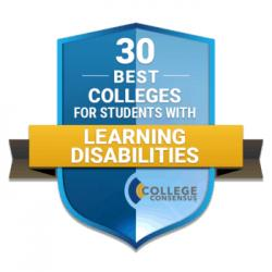College Consensus graphic for 30 Best Colleges for Students with Learning Disabilities