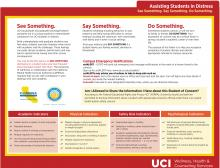 First side of Assisting Students in Distress red folder. Please see PDF version for accessible information.